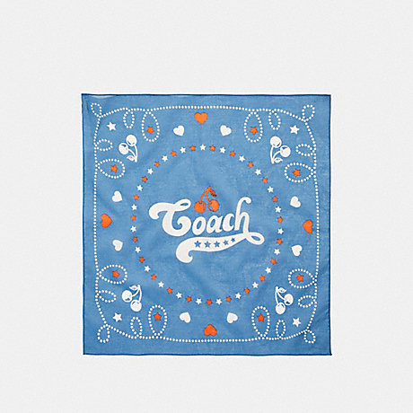 COACH COACH CHERRY BANDANA - MIDNIGHT NAVY - f26598