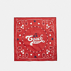 COACH CHERRY BANDANA - DARK RED - COACH F26598