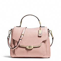 MADISON SMALL SADIE FLAP SATCHEL IN LEATHER COACH F26624