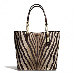 COACH MADISON ZEBRA PRINT NORTH/SOUTH TOTE - ONE COLOR - F26633
