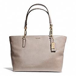 COACH MADISON LEATHER EAST/WEST TOTE - LIGHT GOLD/GREY BIRCH - F26769