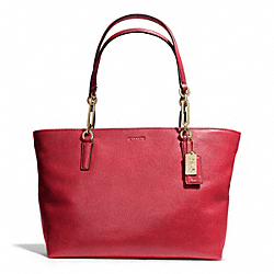 MADISON LEATHER EAST/WEST TOTE COACH F26769