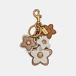 WILDFLOWER MIX BAG CHARM - GOLD/CHALK - COACH F26790