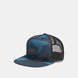 COACH FLAT BRIM HAT WITH CAMO PRINT - BRIGHT MINERAL CAMO - F26793