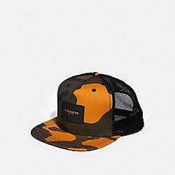 FLAT BRIM HAT WITH CAMO PRINT - TANGERINE CAMO - COACH F26793