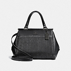 GRACE BAG WITH QUILTING AND RIVETS - DK/BLACK - COACH F26833