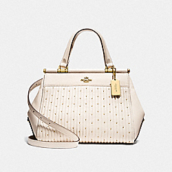 GRACE BAG WITH QUILTING AND RIVETS - OL/CHALK - COACH F26833