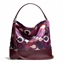 COACH PARK OP ART SCARF PRINT HOBO - ONE COLOR - F26841