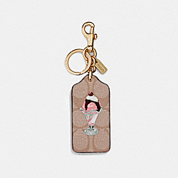 SIGNATURE ICE CREAM SUNDAE BAG CHARM - SADDLE/GOLD - COACH F26859