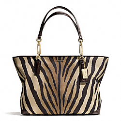 COACH MADISON ZEBRA PRINT EAST/WEST TOTE - ONE COLOR - F26881