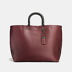 ROGUE TOTE - BORDEAUX/BLACK COPPER - COACH F26886