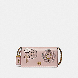 DINKY WITH TEA ROSE RIVETS - PEONY/OLD BRASS - COACH F26892
