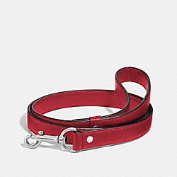 LARGE PET LEASH - SILVER/RED - COACH F26905