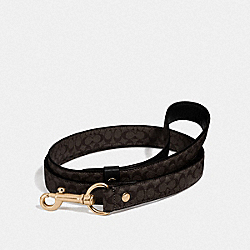 LARGE PET LEASH IN SIGNATURE CROSSGRAIN LEATHER - MAHOGANY/GOLD - COACH F26906