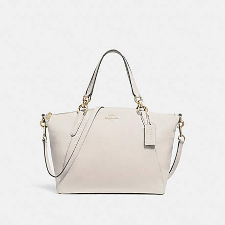COACH SMALL KELSEY SATCHEL - CHALK/LIGHT GOLD - f26917