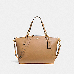 SMALL KELSEY SATCHEL - LIGHT SADDLE/LIGHT GOLD - COACH F26917