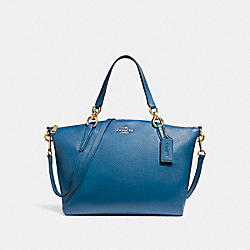 SMALL KELSEY SATCHEL - INK BLUE/LIGHT GOLD - COACH F26917