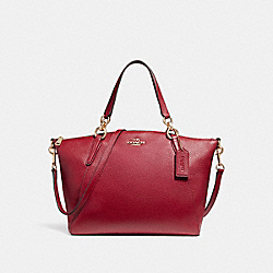 SMALL KELSEY SATCHEL - LIGHT GOLD/DARK RED - COACH F26917