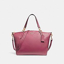 SMALL KELSEY SATCHEL - LIGHT GOLD/ROUGE - COACH F26917