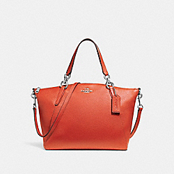 SMALL KELSEY SATCHEL - ORANGE RED/SILVER - COACH F26917