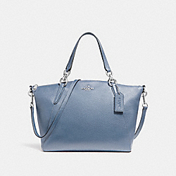 SMALL KELSEY SATCHEL - SILVER/POOL - COACH F26917