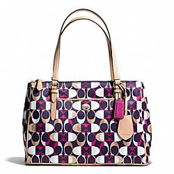 COACH PEYTON DREAM C PRINT JORDAN DOUBLE ZIP CARRYALL - ONE COLOR - F26927