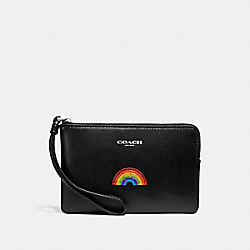 CORNER ZIP WRISTLET WITH RAINBOW - MULTICOLOR 1/SILVER - COACH F26938