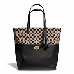 COACH SIGNATURE TURNLOCK TOTE - ONE COLOR - F26943