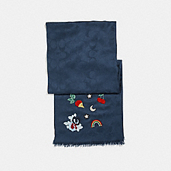 DENIM SOUVENIR PATCH SIGNATURE WRAP - DENIM - COACH F26952