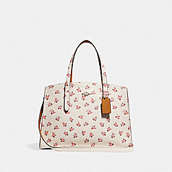 CHARLIE CARRYALL WITH FLORAL BLOOM PRINT - CHALK MULTI/SILVER - COACH F26964