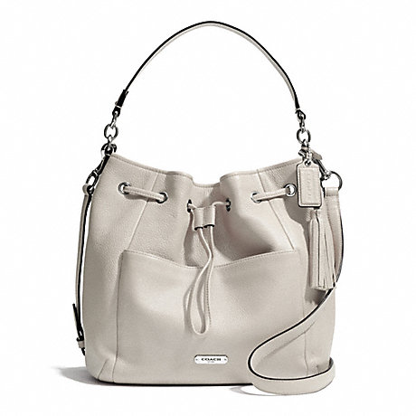 COACH f27003 AVERY LEATHER DRAWSTRING SILVER/PEARL
