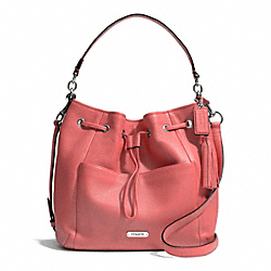 COACH AVERY LEATHER DRAWSTRING - SILVER/TEAROSE - F27003