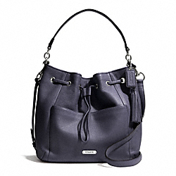 COACH AVERY LEATHER DRAWSTRING - SILVER/SLATE - F27003