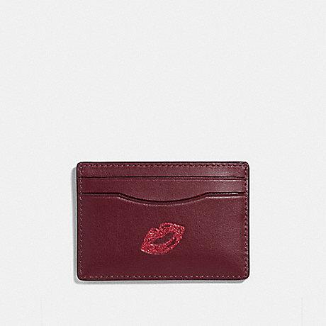 COACH CARD CASE WITH LIPS - MULTICOLOR 1/SILVER - f27038