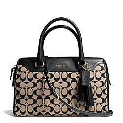 COACH PRINTED SIGNATURE HALEY SATCHEL WITH STRAP - ONE COLOR - F27042