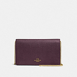 CALLIE FOLDOVER CHAIN CLUTCH - B4/PLUM - COACH F27084