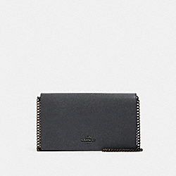 CALLIE FOLDOVER CHAIN CLUTCH - BP/MIDNIGHT NAVY - COACH F27084
