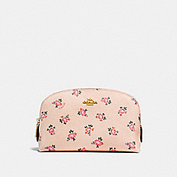 COSMETIC CASE 17 WITH FLORAL BLOOM PRINT - BEECHWOOD FLORAL BLOOM/LIGHT GOLD - COACH F27092