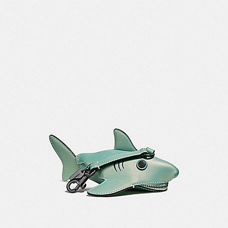 COACH SHARKY COIN CASE - METALLIC MARINE/DARK GUNMETAL - F27127