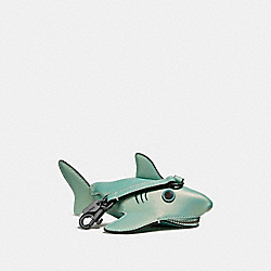 SHARKY COIN CASE - METALLIC MARINE/DARK GUNMETAL - COACH F27127