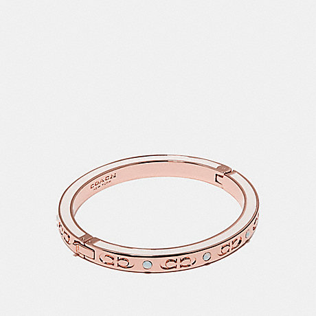COACH KISSING C HINGED BANGLE - CHALK/ROSEGOLD - f27177