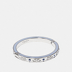 COACH KISSING C HINGED BANGLE - POOL/SILVER - F27177