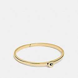 SIGNATURE HINGED BANGLE - GOLD - COACH F27186