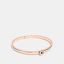 SIGNATURE HINGED BANGLE - ROSEGOLD - COACH F27186