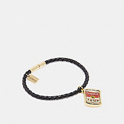 CAMPBELL'S® BRACELET - BLACK/MULTICOLOR - COACH F27189