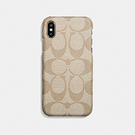 COACH IPHONE 6S/7/8/X/XS CASE IN SIGNATURE CANVAS - IVORY - F27296
