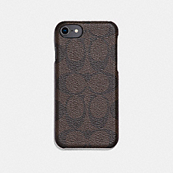 COACH SIGNATURE IPHONE 7/X CASE - MAHOGANY - F27296