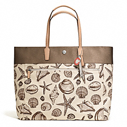 COACH RESORT SHELL PRINT LARGE TOTE - ONE COLOR - F27347