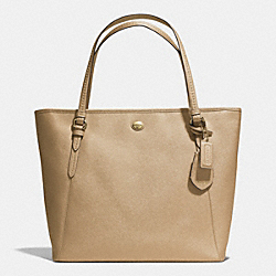 COACH PEYTON LEATHER ZIP TOP TOTE - IM/GOLD - F27349