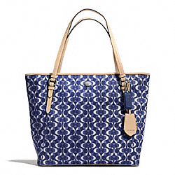 COACH PEYTON DREAM C ZIP TOP TOTE - SILVER/NAVY/TAN - F27350
